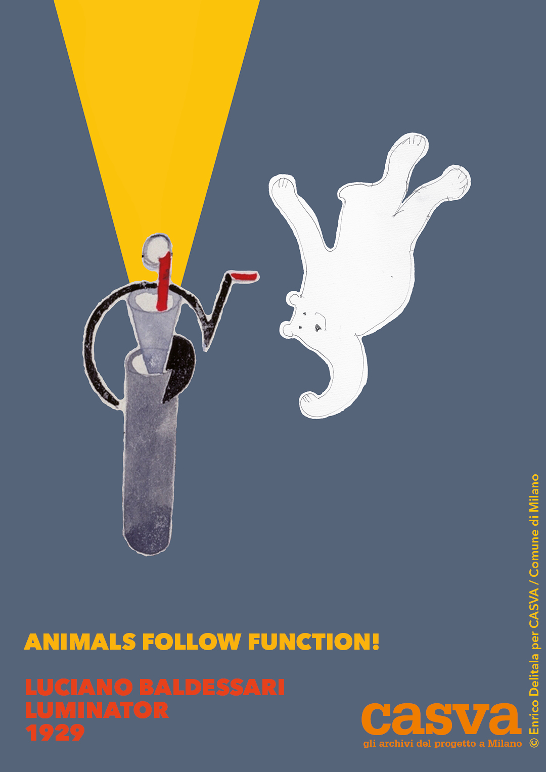 ORSO: Enrico Delitala illustrator animals follow function form follows function CASVA Luciano Baldessari Luminator