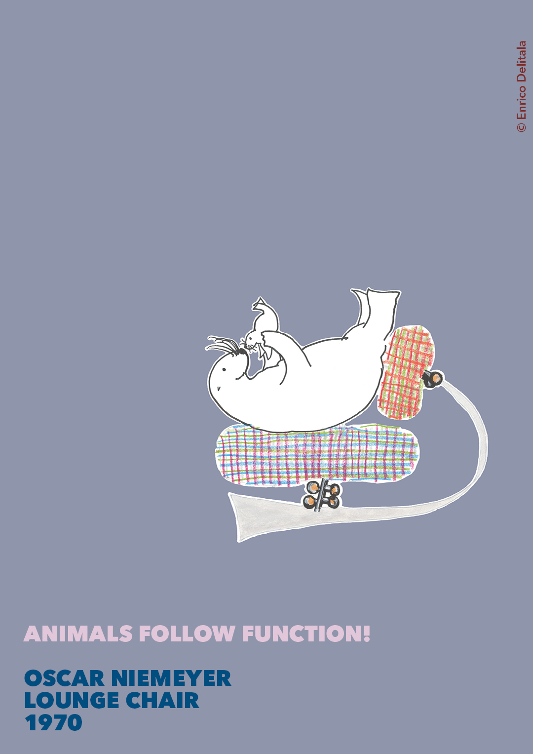 Otaria: Enrico Delitala illustrator animals follow function form follows function Oscar Niemeyer