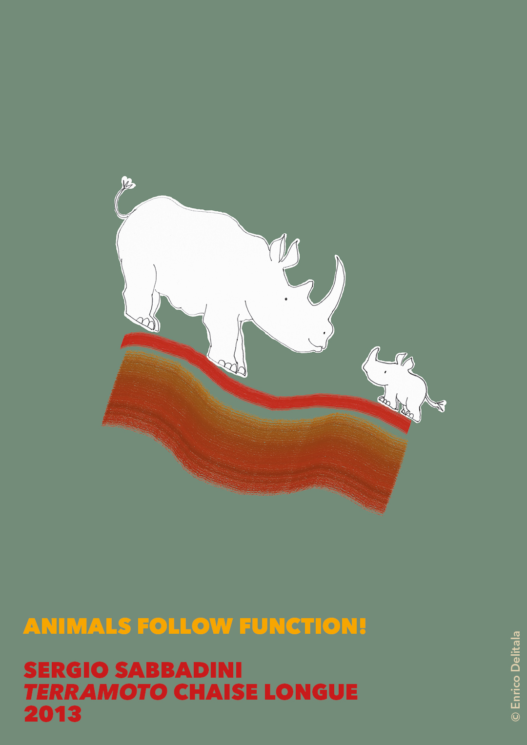 Rinoceronti: Enrico Delitala Sergio Sabbadini animals follow function form follows function
