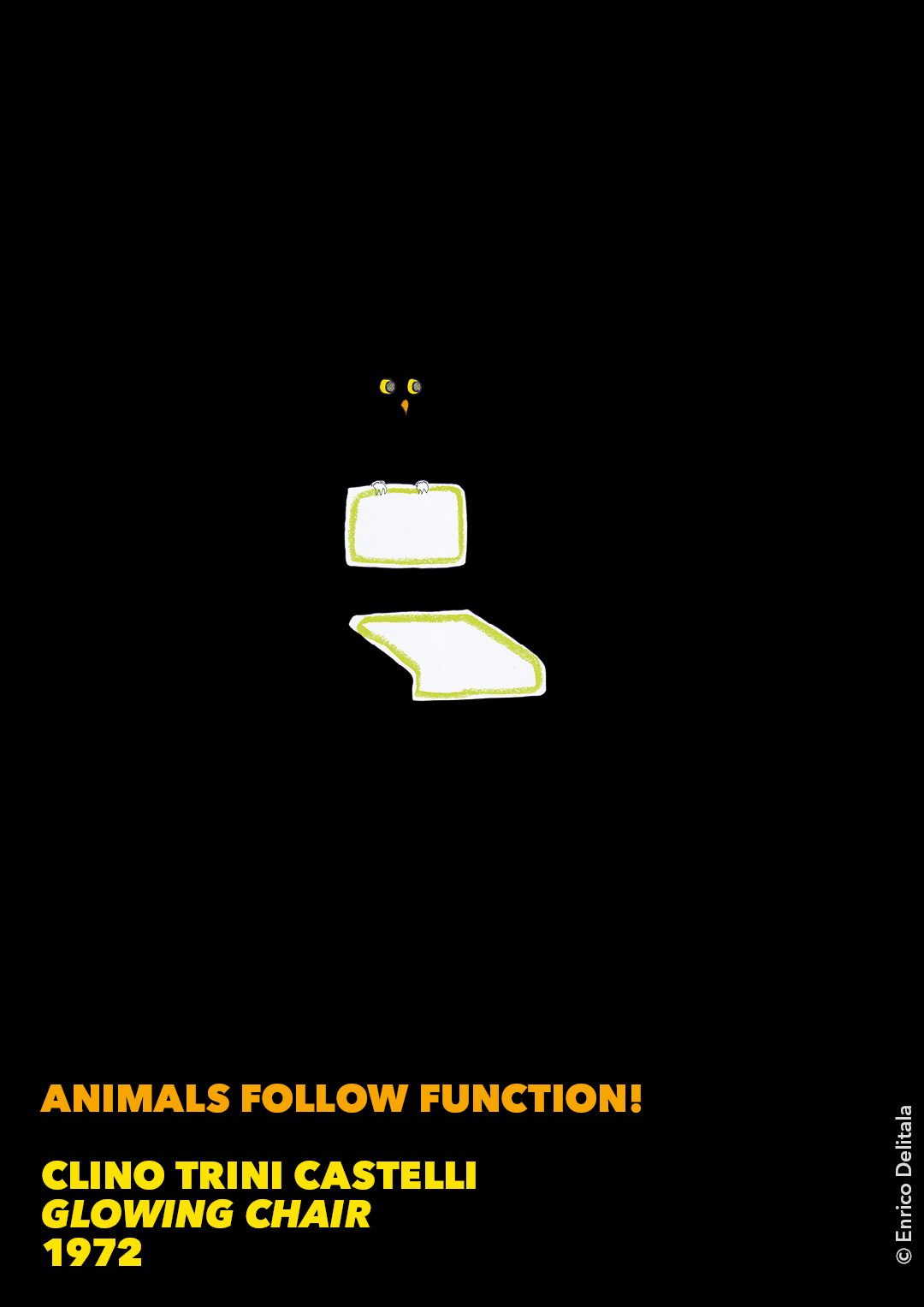 Gufo: Enrico Delitala illustrator animals follow function form follows function Clino Trini Castelli