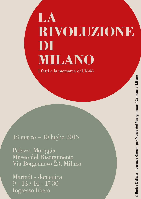 La rivoluzione di Milano: Enrico Delitala Lorenzo Gaetani Museo del Risorgimento Milano Palazzo Moriggia Milano