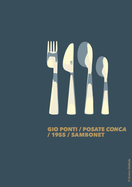Posate: Enrico Delitala Enrico Delitala illustrator Gio Ponti